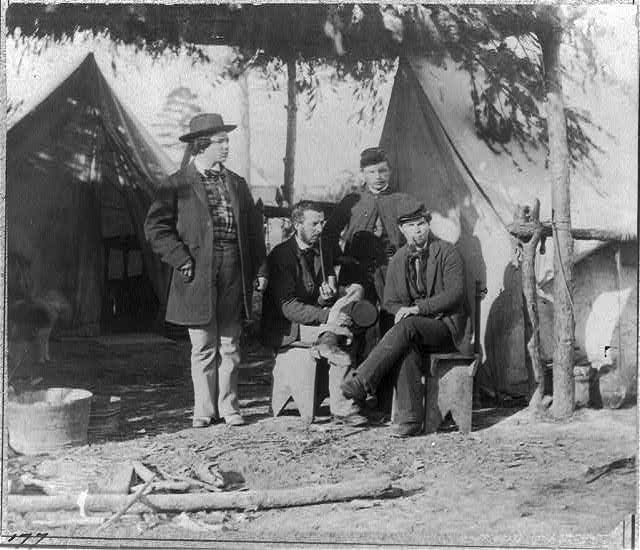 Clerks in Office of Assistant Adjutant General, Headquarters of Army of Potomac, Falmouth, Virginia