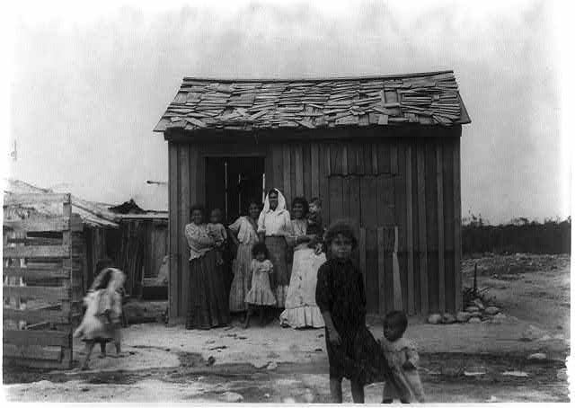 Rodriguez, Mexico - May 8, 1912 - Mexican family and one room house