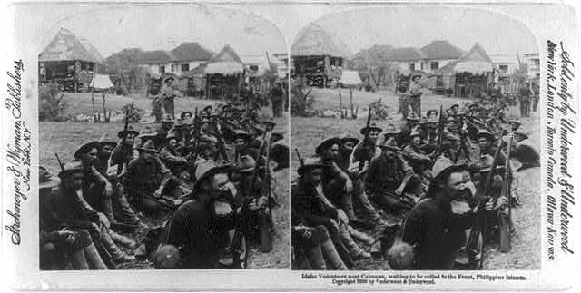 Caloocan, Philippine Islands: Idaho volunteers near Caloocan, waiting to be called to the Front