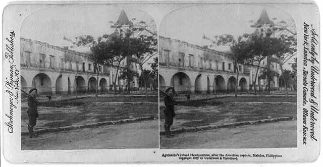 Malolos, Philippines: Aguinaldo's ruined headquarters after the American capture
