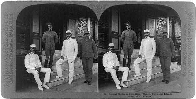 Manila, Philippine Islands: Gneral Chaffee and his aides