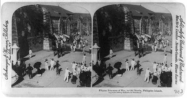 Filipino prisoners of war, in old Manila, Philippine Islands