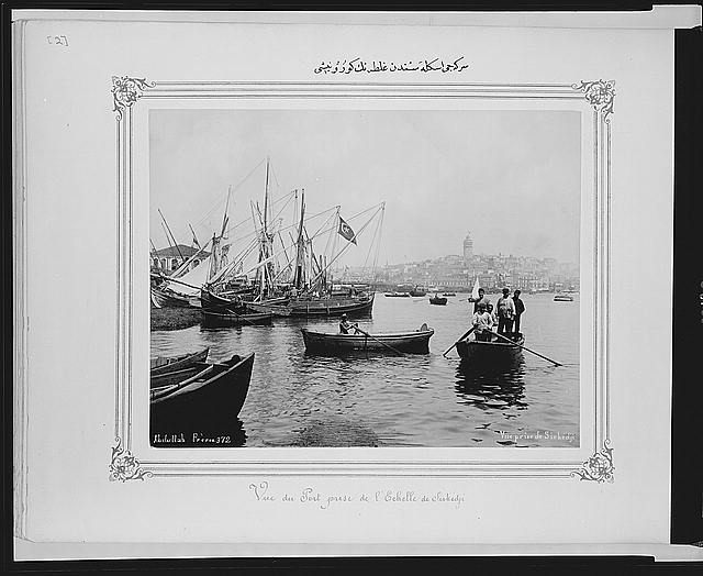 [View of Galata from Sirkeci port]
