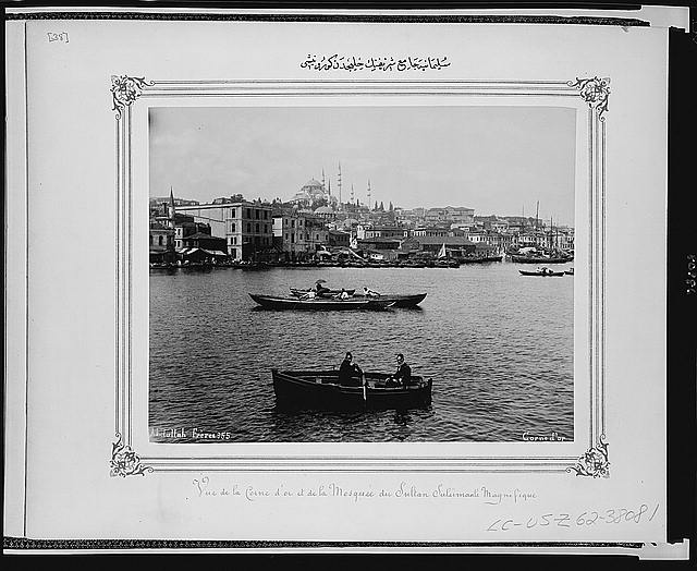 [View of the Süleymaniye Camii (mosque) from the Golden Horn]