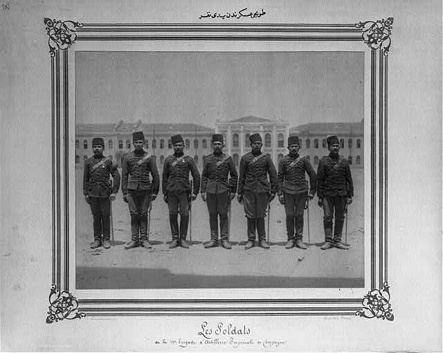 [Seven men from the artillery soldiers]