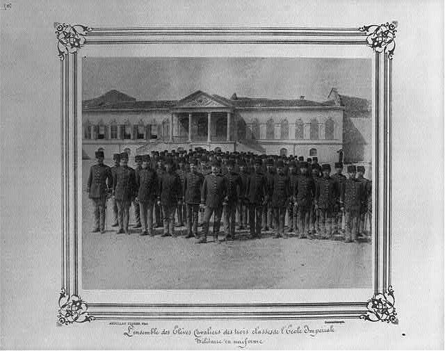 [The cavalry students from three classes at the Imperial Military Academy, in uniform]