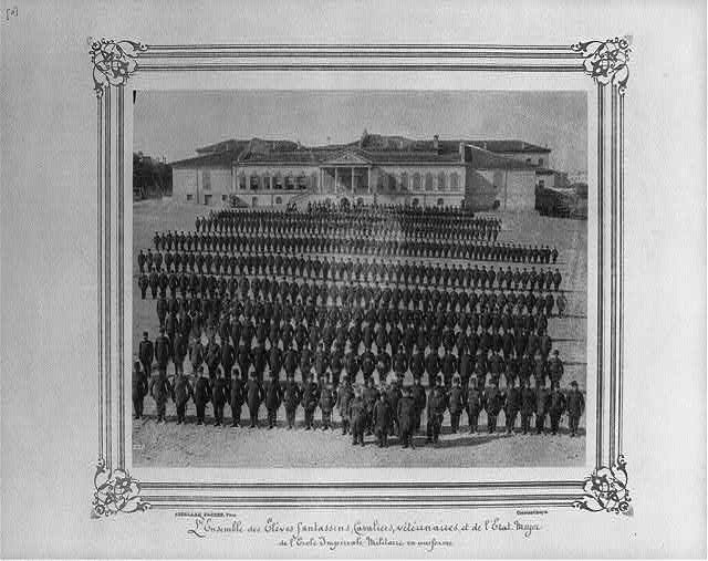 [Infantry, cavalry, veterinary, and General Staff students at the Imperial Military Academy]