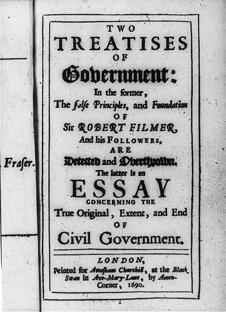 [Title page of John Locke, Two Treatises of Government (London, 1690)]