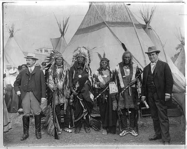 William Jennings Bryan with Sioux chiefs at Pan-American Exposition, Buffalo, 1901