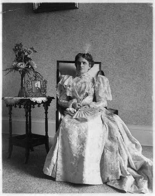 Ida (Saxton) McKinley, 1847-1907