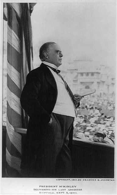 William McKinley delivering his last address, Buffalo, N.Y., Sept. 5, 1901