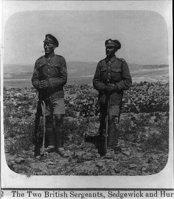 The two British sergeants, Sedgewick and Hurcomb [who accepted the surrender of Jerusalem, 1917]
