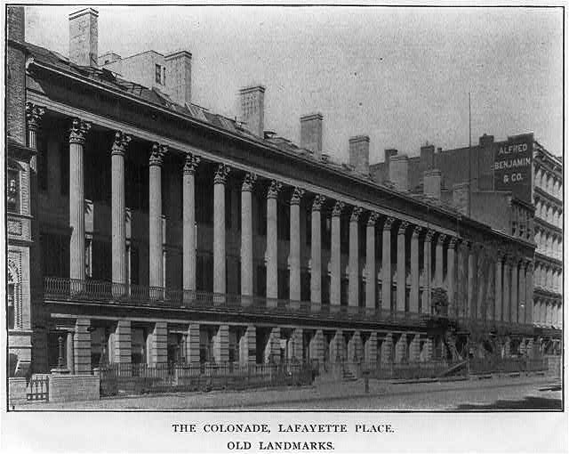 The Colonade, Lafayette Place, [New York City]