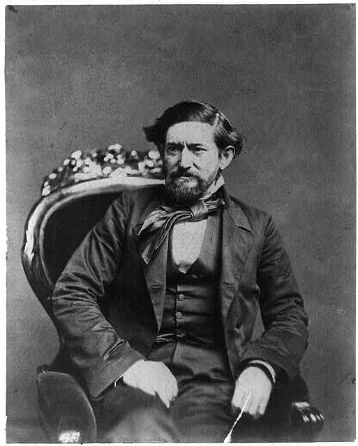 [John Coffee Hays, 3/4-length portrait, seated in chair and facing left]