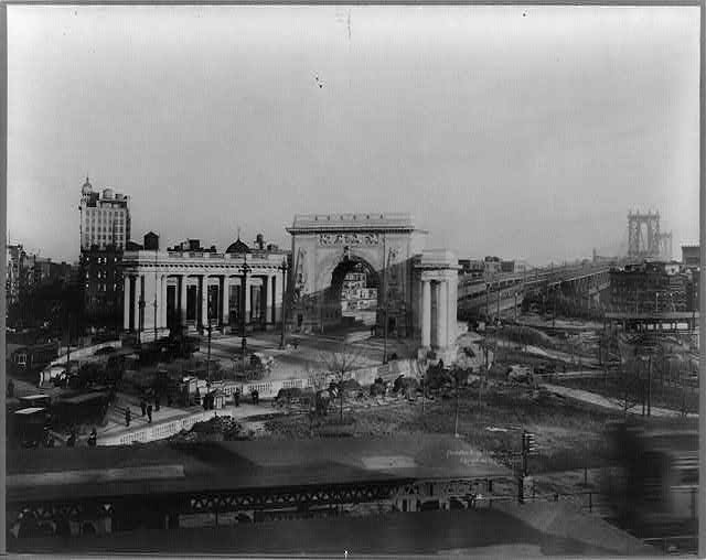 Manhattan Bridge Plaza, Canal. St. and Bowery, N.Y.C.