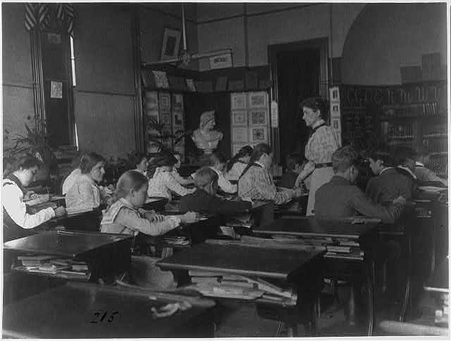 [Classroom with students and teacher, Washington, D.C.]