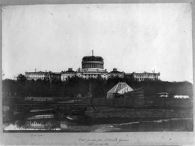 West facade from Botanical Gardens