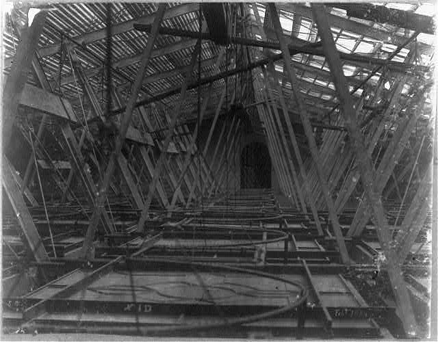 Construction for supporting ceiling of Senate chamber, n. wing