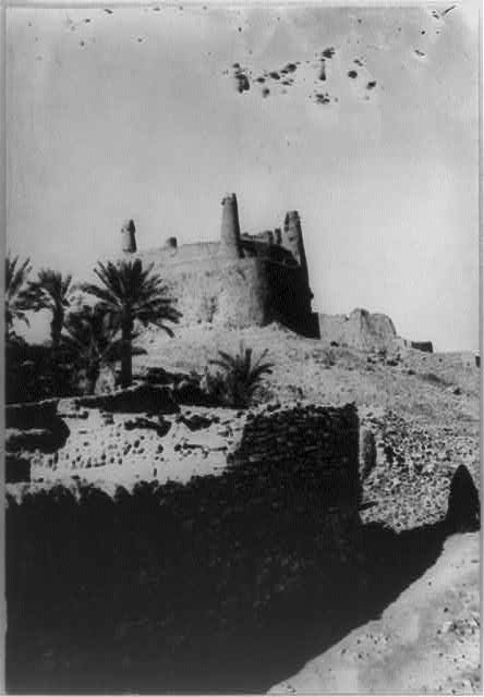 The Mared Tower, a desert fort, at Jowf - N.Arabia