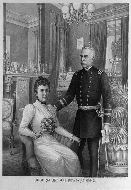 Admiral and Mrs. Dewey at home