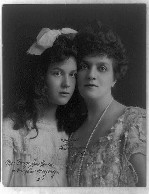 Mrs. George Jay Gould and daughter Marjorie