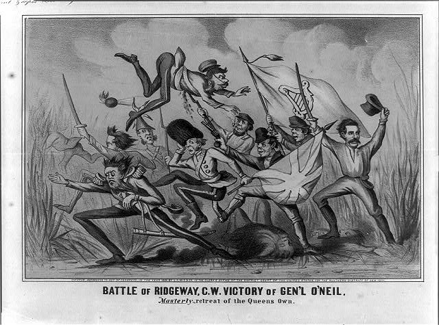 "Battle of Ridgeway, C.W. Victory of Gen'l O'Neil. ""Masterly"" retreat of the Queens own"