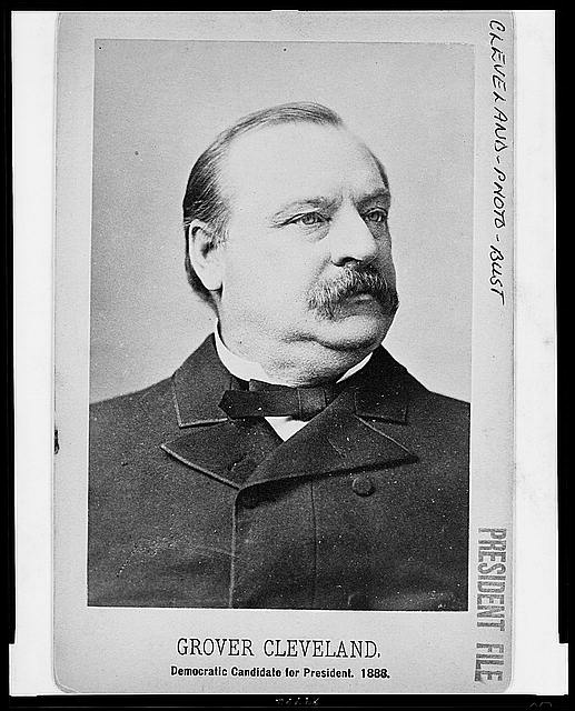 [Grover Cleveland, head-and-shoulders portrait, facing right]