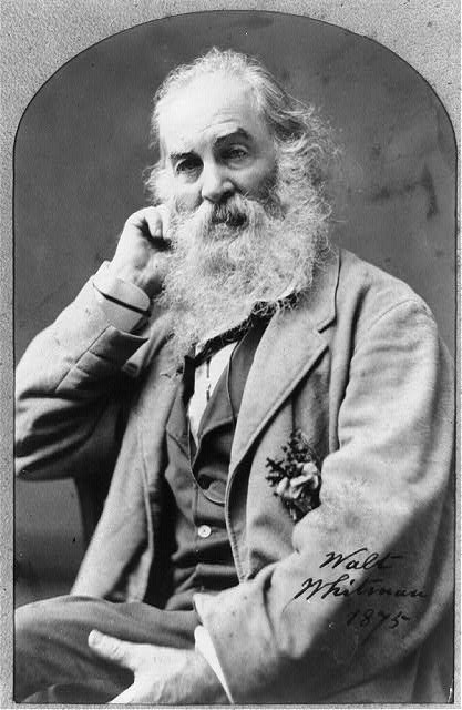 [Walt Whitman, three-quarter length portrait, facing left, right hand under head]