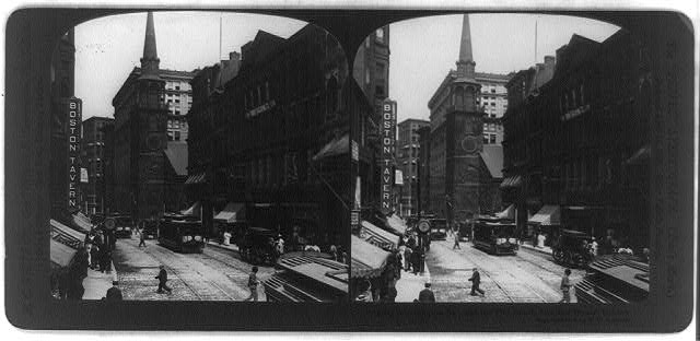 Washington St., and the Old South Meeting House, Boston