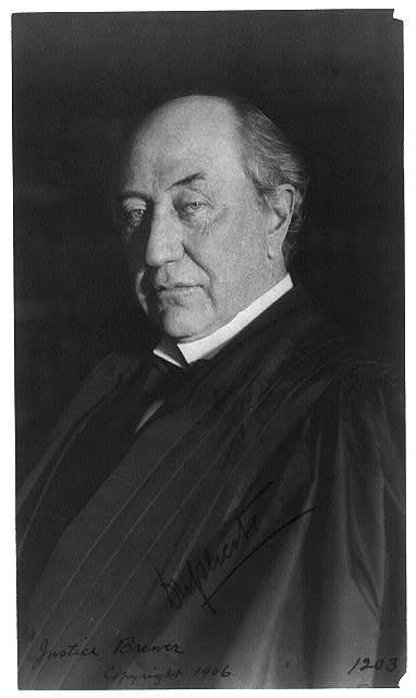 [David Josiah Brewer, Associate Justice, Supreme Court, half-length portrait, facing left]