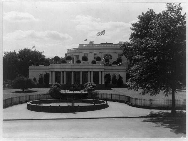 East entrance of the White House, Washington, D.C.
