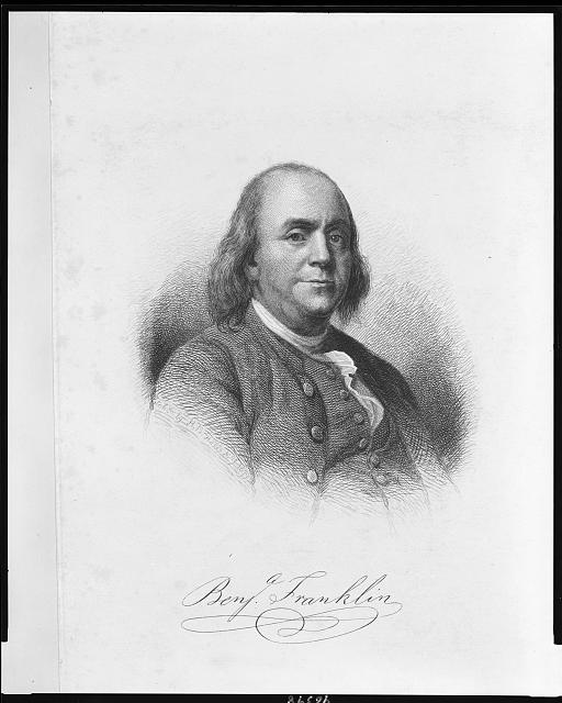 [Benjamin Franklin, half-length portrait, facing right]