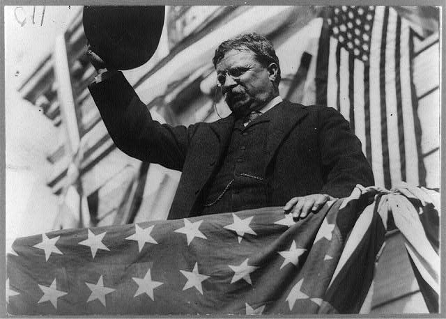 Col. Roosevelt  on his tour through New Jersey before the convention