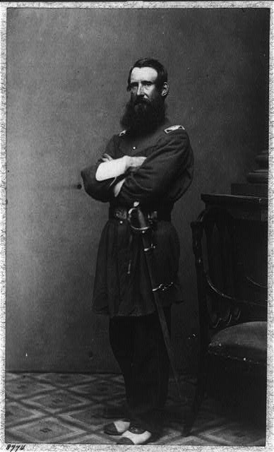 [Col. Thomas Cass, 9th Mass. Infantry, full-length portrait, standing, facing left, in uniform]