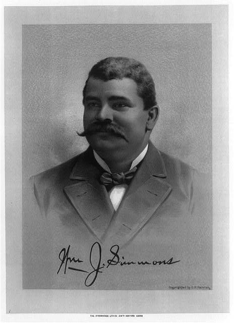 [William J. Simmons, head-and-shoulders portrait, facing left]