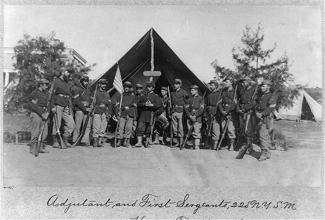 Adjutant and First Sergeants, 22d N. Y. S. M. near Harper's Ferry, Va.1861 (i.e.1862?)