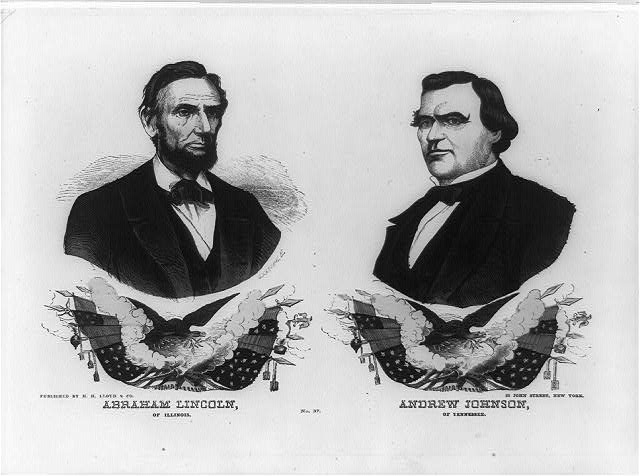Abraham Lincoln of Illinois. Andrew Johnson of Tennessee. No. 37