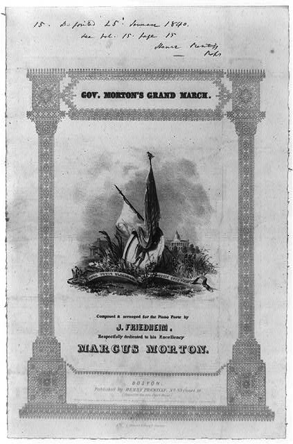 Gov. Morton&#39;s grand march