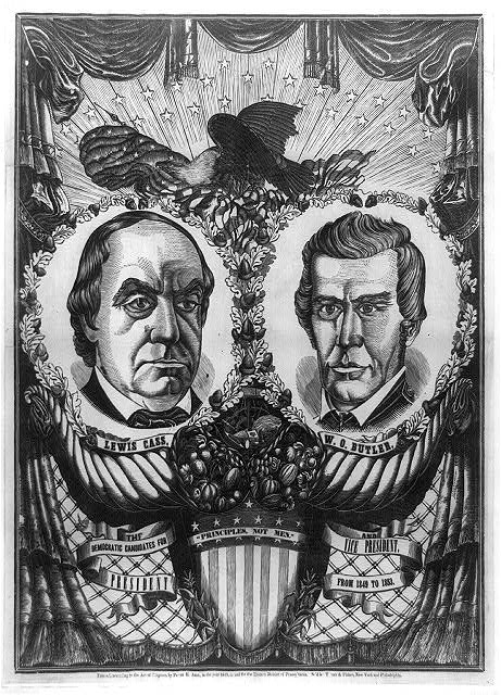 """Principles, not men."" The Democratic candidates for President and Vice President from 1849 to 1853"