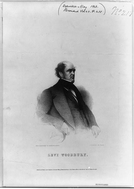 [Levi Woodbury, half-length portrait, facing right]