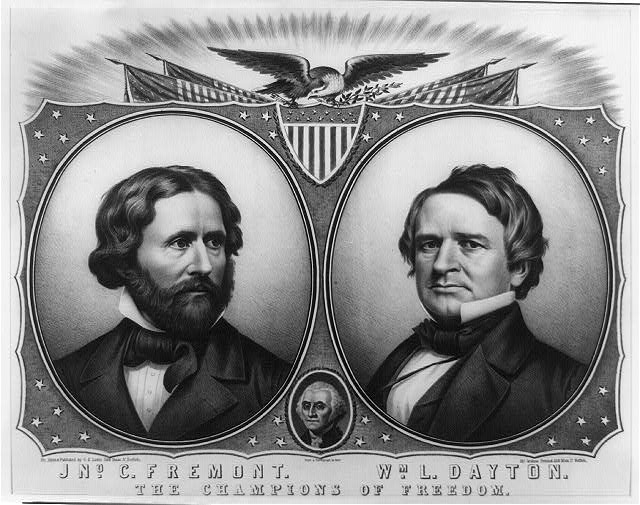 Jno C. Fremont [and] Wm. L. Dayton. The champions of freedom!