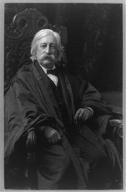 [Melville Weston Fuller, Chief Justice, three-quarter-length portrait, seated, facing front]