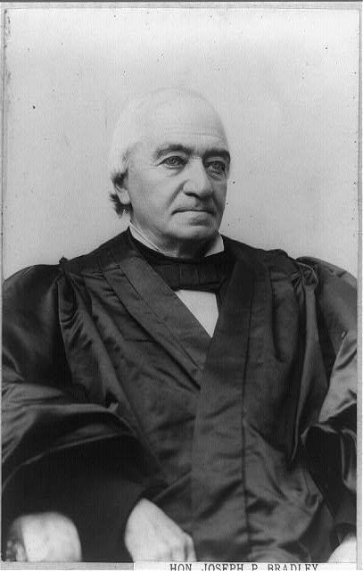 [Joseph P. Bradley, Associate Justice of Supreme Court, half-length portrait, seated, facing right]