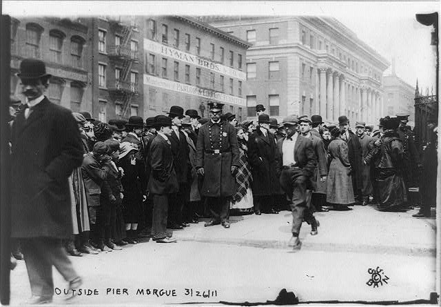 Triangle Waist Co. fire, N.Y.C.--Crowds outside pier morgue
