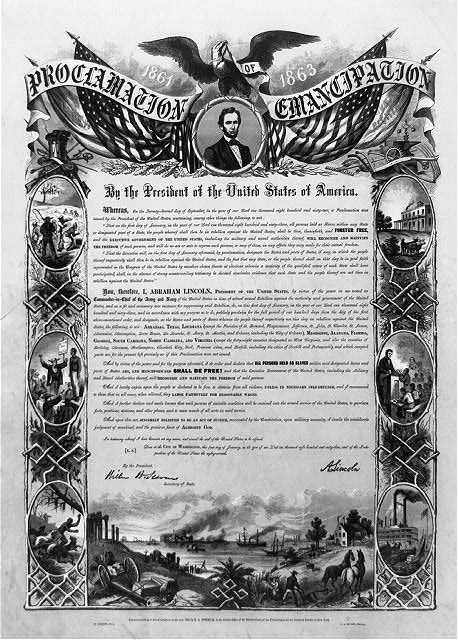 Proclamation of Emancipation by the President of the United States of America