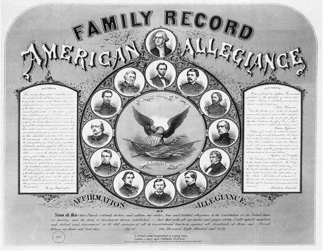 Family record. American allegiances