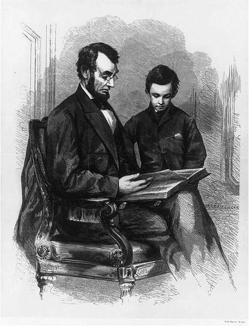 President Lincoln at home