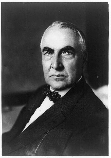[Warren G. Harding, head-and-shoulders portrait, facing left]