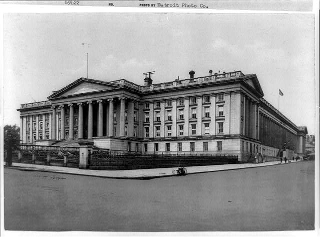 D.C., Washington, Treasury Building, 1898, Exterior