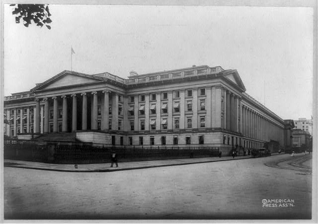 D.C., Washington, Treasury Building, 1910, exterior